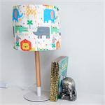 Jungle lampshade with metal and wooden base - Nursery Decor