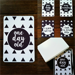 Baby Milestone Cards - Monochrome - Geometric Triangles