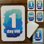 Baby Milestone Cards - Blue Watercolour - Boy