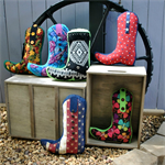 Cowboy boot pillow