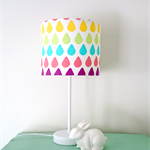 Rainbow Raindrop lampshade and base