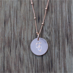 Rose Gold Filled Alphabet Charm and Chain