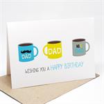 Birthday Card Male - Coffee Cups for Dad - HBM063