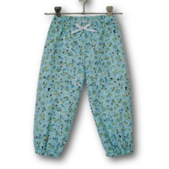Girls Blue Floral Play Pants (SIZE 2 & 4)