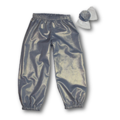 SIZE 4 Girls Silver Play Pants - FREE POST