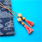 Pink Multi-colour Tassel Bookmark
