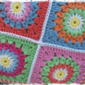 Handmade Crochet Cushion Cover. 'Assorted Pastels' READY TO SHIP NOW...
