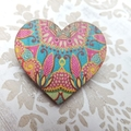 'Bollywood' Heart Brooch
