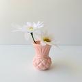 RESIN VASE - handmade petite bud vase in blush pink resin