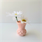 RESIN VASE - handmade petite bud vase in blush pink resin