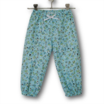 Girls Blue Floral Play Pants