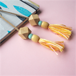 Yellow Multi-colour Tassel Bookmark