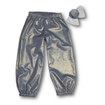 SIZE 4 Girls Silver Play Pants