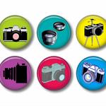 Magnet set - 6 camera magnets