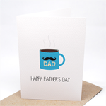 Father's Day Card - Hot Coffee Mug - HFD022