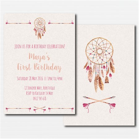 Boho Tribal Printable Custom Invitation