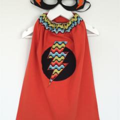 ~ Boy's Basic Superhero Set ~ MADE TO ORDER ~ Mask & Cape ~