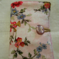 Travelling Tea Bag Wallets -  Mother's Day. Pink  Floral and vintage button.