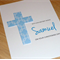 Personalised Christening / Baptism / Naming Day Card - Pink Blue Purple