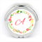 Monogram Initial Compact Mirror ~ Round Compact Purse Mirror