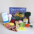 Dinosaur Book and Storytelling Set, Felt Food