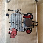 Travelling Tea Bag Wallets -   British Scooters. Thank you Gift, Teachers, Xmas.