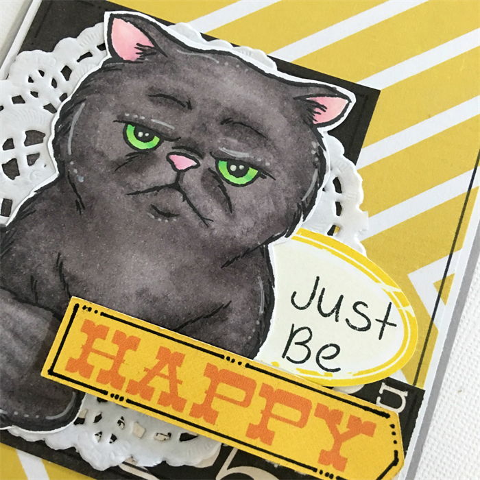 cheer up card just be happy grumpy cat angry kitty jessidee