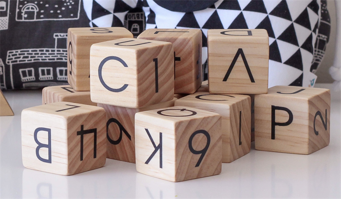 names for letters 12 wooden alphabet blocks custom made cococooie 23741