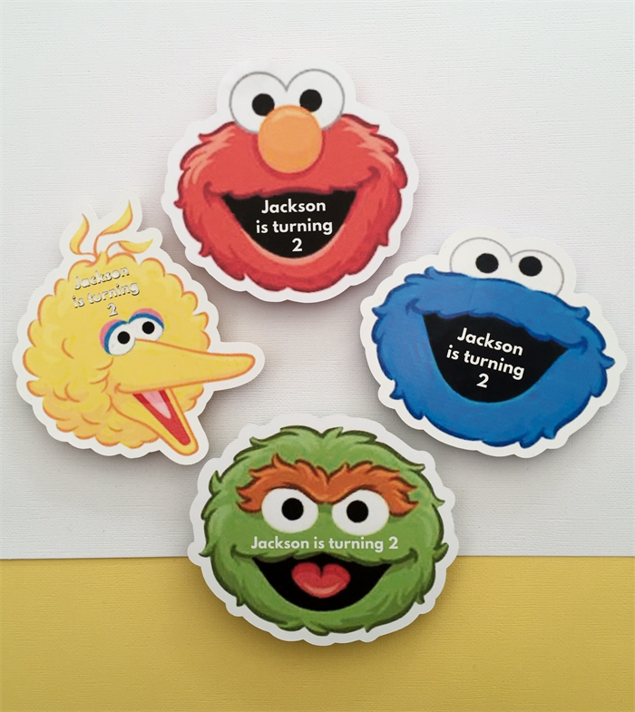 Personalised Sesame Street Elmo Cookie Birthday Party Invitation
