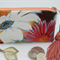 Coin Purse, Jewellery Accessory Pouch - Floral Print with Coral Tassel