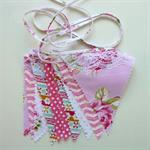 Baby Bunting, Fabric Bunting, Pink Bunting, Baby Shower, Birthday Bunting