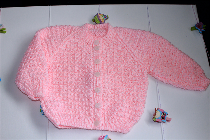 Pink Bella Baby Tizz Hand Knitted Cardigan Campuddin Madeit