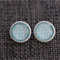 Turquoise Lines  ~ White Studs