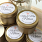 25 x Personalised Wedding Favours - Soy Candle Tins - Gold or Silver