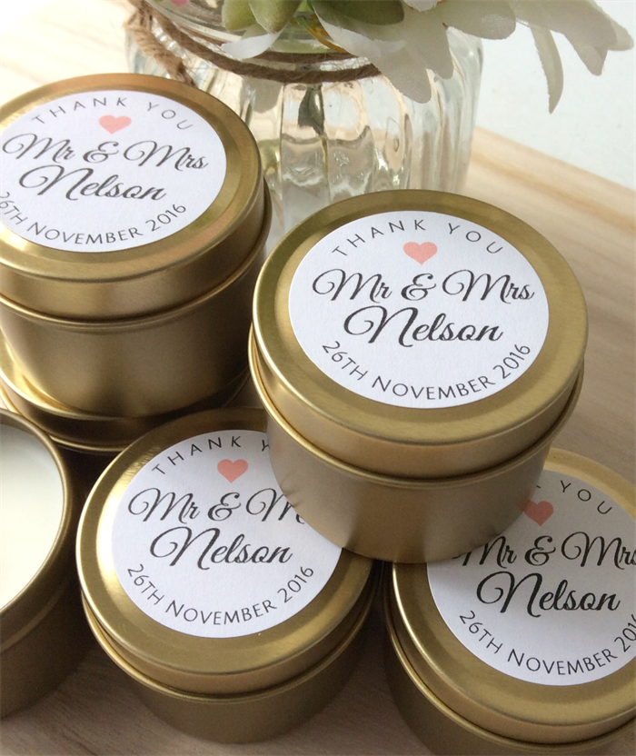 Soy Candle Favors Etsy
