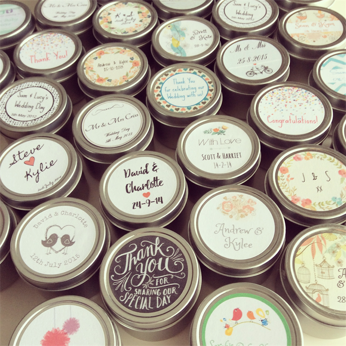 Customized Candles Wedding Favors Image Collections Wedding