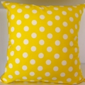 Yellow Spot Cushion Cover