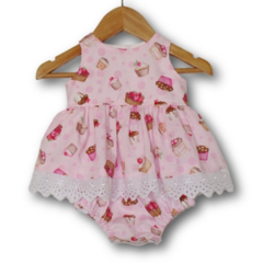 SIZE 000 - Cupcake Baby Dress Romper