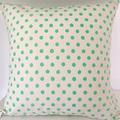 Fluoro Green Spot Cushion Cover