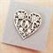 Kraft wooden laser cut heart pearls love engagement him her fiancé card