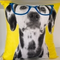Yellow Dog Cushion Cover