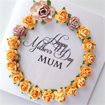 Happy Mother's Day Mum lush paper roses mocha latte yellow her pretty card