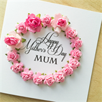 Lush paper roses Happy Mother's Day Mum pink her pretty card