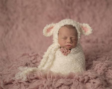 Baby Lamb Bonnet   Unisex Newborn Photography Prop   Unisex Prop   Sheep Hat 0fe38a1bc00