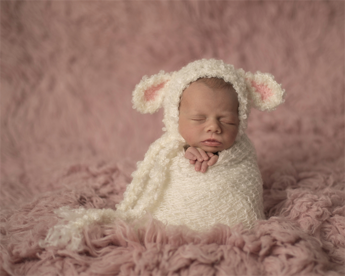 Baby lamb bonnet unisex newborn photography prop unisex prop sheep hat