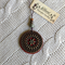 Jarrah and Brass Mandala Pendant #7