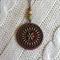 Jarrah and Brass Mandala Pendant #4