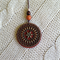 Jarrah and Brass Mandala Pendant #6