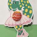 Dorothy the Dinosaur (The Wiggles) Lollipop Cutouts/Party Favours- 10pk