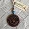 Jarrah and Brass Mandala Pendant #2